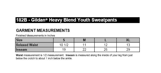 Size Chart For Sweatpants Size Chart
