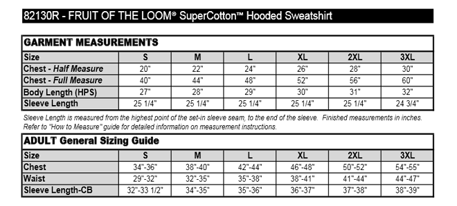 Fruit Of The Loom Super Cotton Hooded Sweatshirt 82130r