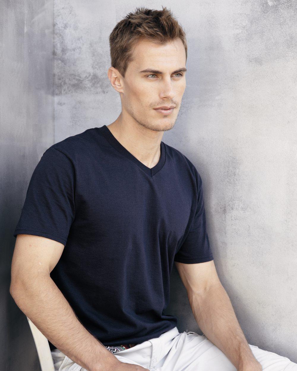 e10f0de72764 Gildan V-Neck T-Shirt 100% Cotton-Shirt-Item #64V00 – Big Bear ...