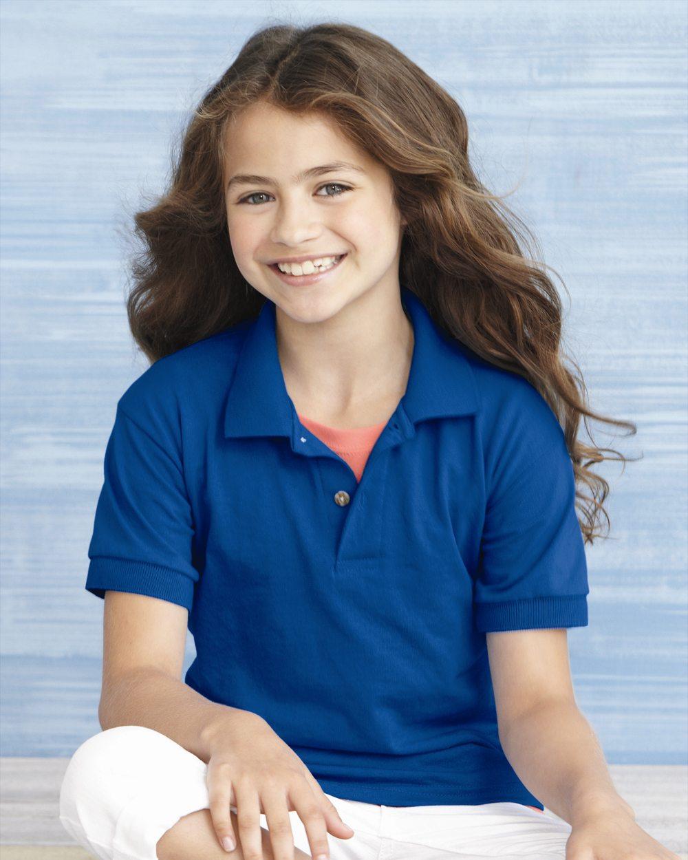 4d8ef1cf778 Gildan Youth Poly/Cotton Jersey Style Polo Shirt-Item #8800B – Big ...